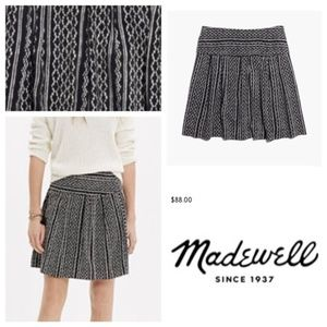 MADEWELL Silk Skyline Skirt in Tidalwave